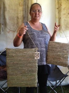 Traditional Aboriginal dilly-bags by Janelle Duncan from the Wake Up Time Group in Casino NSW